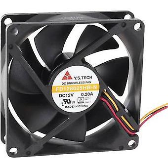 FD128025HB-N (2F7) axiálny ventilátor 12 V DC 70,68 m ³/h (L x š x H) 80 x 80 x 25 mm