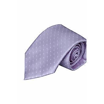 Lilac silk tie V39