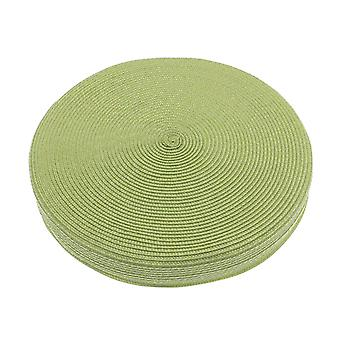 الهواء الطلق المنسوجة وسادة المقعد دائرية، أخضر ليموني