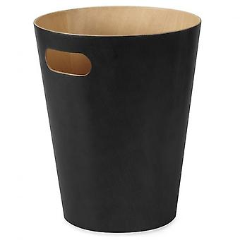 Umbra Woodrow Waste Bin - Black/Natural