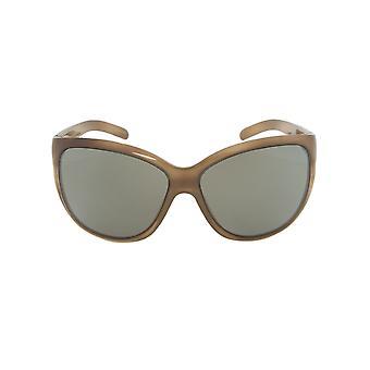 Porsche Design Design P8524 B Oval Sunglasses | Brown Horn Frame | Light grey Lens