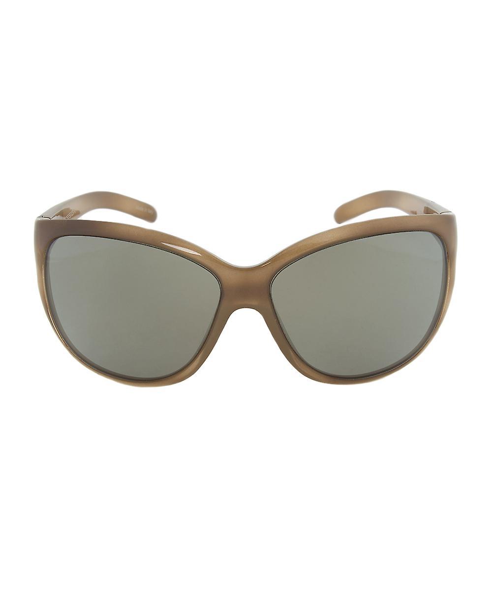 Porsche Design Design P8524 B Oval Sunglasses   Brown Horn Frame   Light grey Lens
