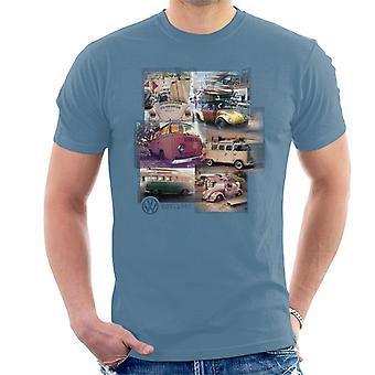 Volkswagen Camper Beetle Collage Men's T-Shirt