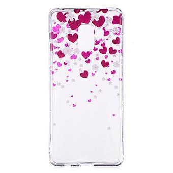 Samsung Galaxy A8 (2018) TPU IMD Skal - Hearts