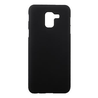 Samsung Galaxy J6 (2018) Gumowana twarda plastikowa powłoka - Czarna