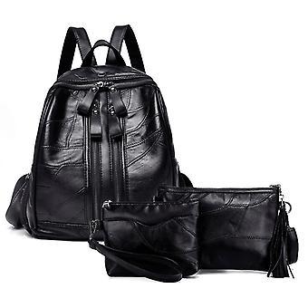 Backpack, shoulder bag and cosmetic bag, genuine lambskin 5926