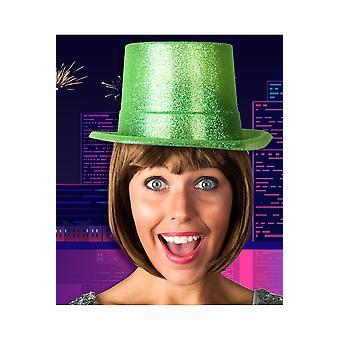 Brokat zielony kapelusz kapelusze