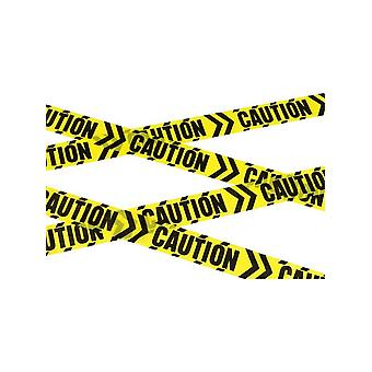 Caution Chevron Tape, Black & Yellow, 6m / 236in