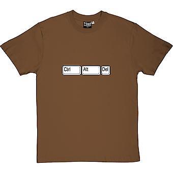 Ctrl Alt Del Chestnut Men's T-Shirt