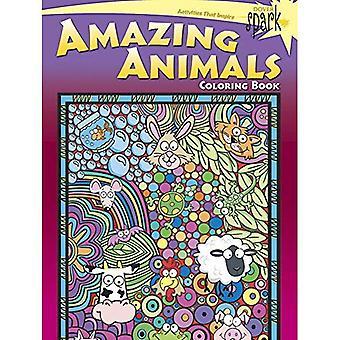 SPARK--Fantastiska djur målarbok (Dover Spark: Dover målarböcker för barn)