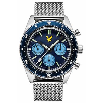 Lyle & Scott Mens Highland rostfritt stål Mesh armband blå urtavla LS-6011-22 klocka