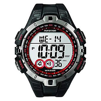 Timex T5K423 Armbanduhr, digital-Hilfsblatt Unisex Silikonharz, schwarz/rot