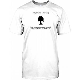Every Cloud Has A Silver Lining - Except Mushroom Ones Kids T Shirt