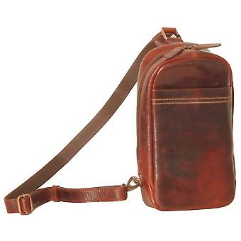 Ashwood Leather Highbury Waxed Vintage Perry Sling Bag - Vintage Tan