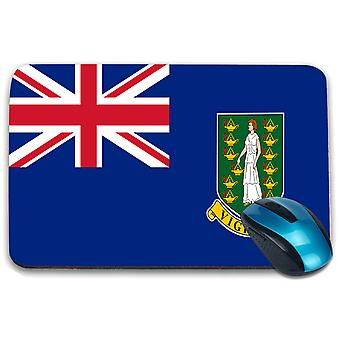 i-Tronixs - British Virgin Islands Flag Printed Design Non-Slip Rectangular Mouse Mat for Office / Home / Gaming - 0235