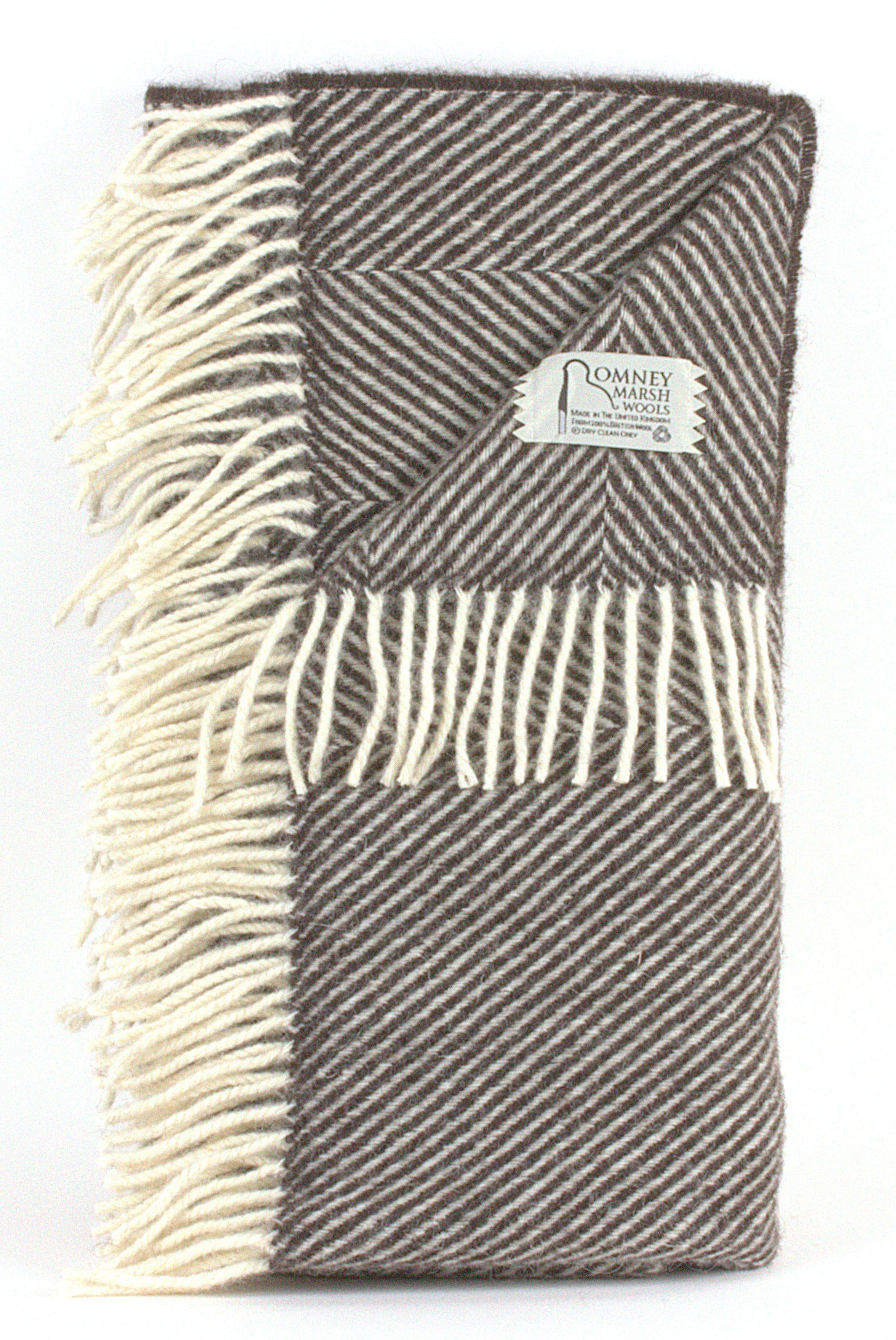 Romney Herringbone Blackthorn Throw