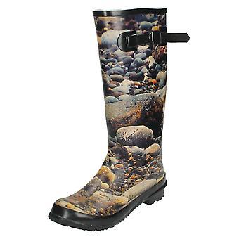 Plek op Mens Slip op Pebble patroon Wellington Boot