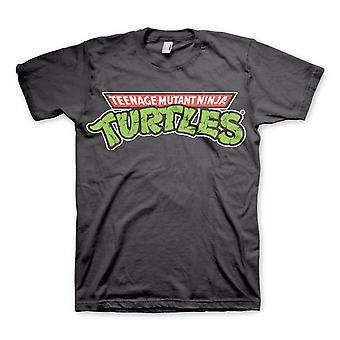 Mannen Teenage Mutant Ninja Turtles Classic logo grijs T-shirt