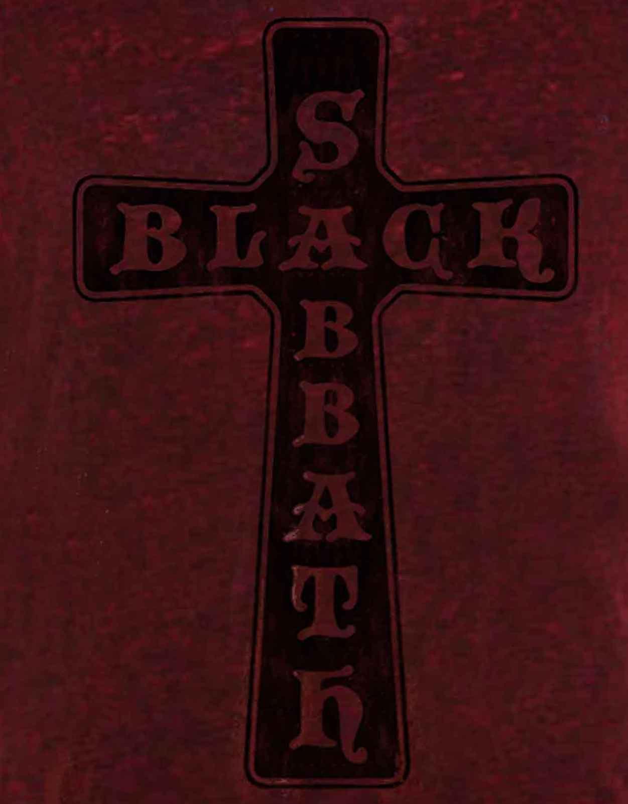 Navy // Red Black Sabbath /'Vintage Cross/' Burnout T-Shirt NEW /& OFFICIAL!
