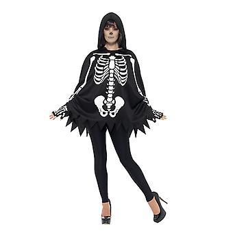 Costume scheletro imposta unisex scheletro di carnevale Halloween adulto Kit