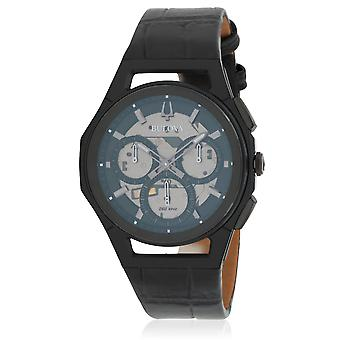In pelle Bulova Cronografo Mens Watch
