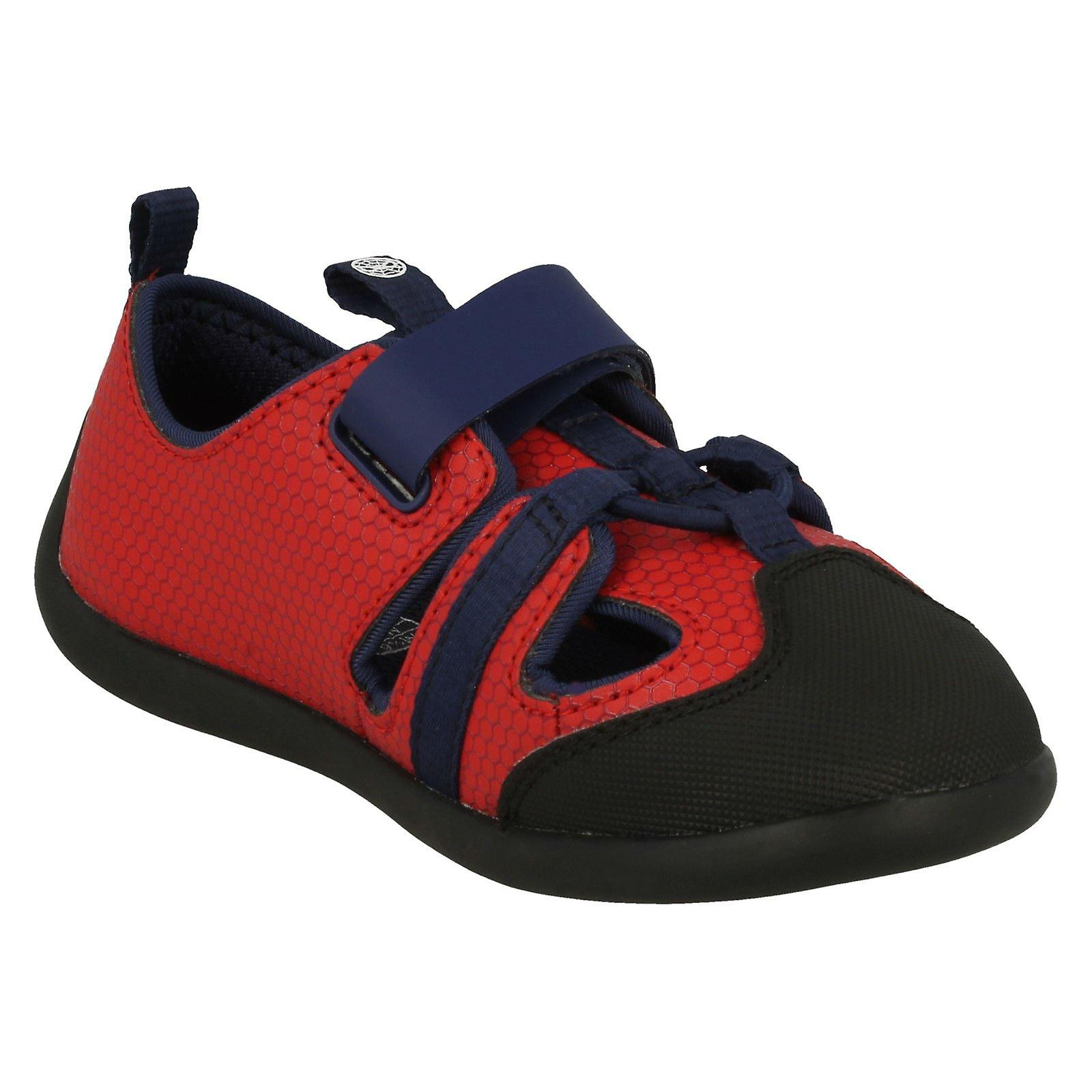 Boys Clarks Marvel Detailed Closed Toe Sandals Play Spider
