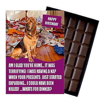 Bloodhound Funny Birthday Gifts For Dog Lover Boxed Chocolate Greeting Card Present