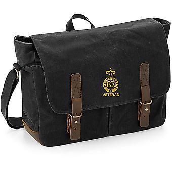 Livvakter veteran-licensierade brittiska armén broderade vaxad canvas Messenger Bag
