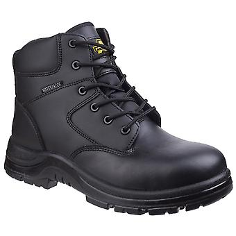 Amblers Safety Unisex FS006C Metal Free Waterproof Lace up Safety Boot Black