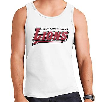 East Mississippi Community College Lions Dark Tail Logo Men's Vest