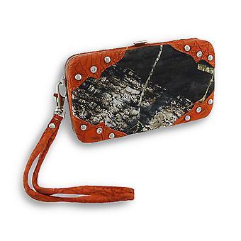 Forest kamouflage iPhone 5/5s plånbok mudd med Mock Croc Trim
