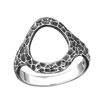 Circle - 925 Sterling Silver Plain Rings - W32299x