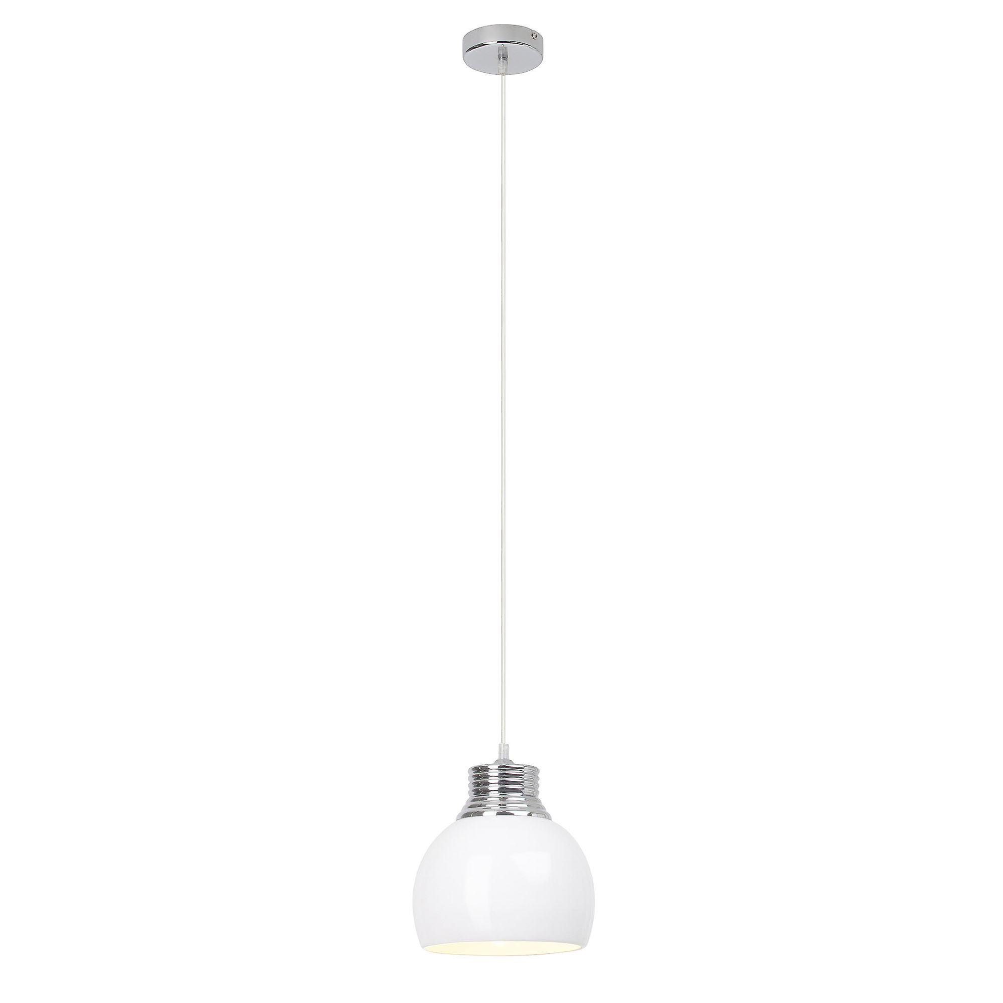 Brilliant Lampe Ina Pendelleuchte 20cm weiß/chrom