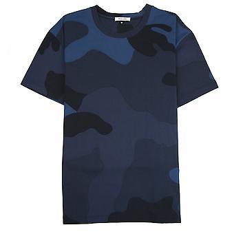 Valentino Macro Camouflage T-shirt Blau Camo