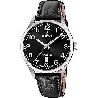 פסטינה-שעון יד-גברים-F20467/3-מטיטניום אנלוגי