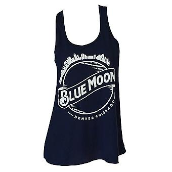 Blue Moon Skyline Flowy Midnight Tank Top