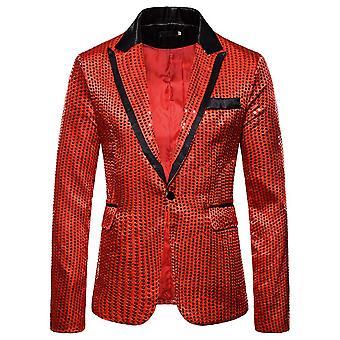 Allthemen Men's Sequins Blazer Banquet Party Slim Fit Giacca