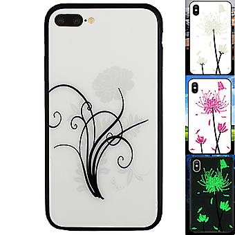 BackCover Magic Glas för Apple iPhone 8 Plus - 7 Plus Flower2