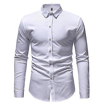 Allthemen men ' s gedrukte slim fit katoen mix Business Casual lange mouw shirt