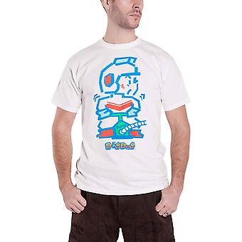 Bandai Namco T Shirt Digdug Pump Man new Official retro logo Mens White