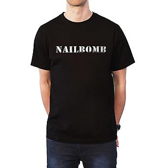 Nailbomb T Shirt Punk Loser Band Logo new Official Mens Black