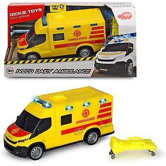 Dickie brinquedos SOS Iveco Daily ambulância escala de luz e som