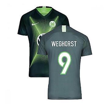 2019-2020 VFL Wolfsburg Home Nike shirt (Kids) (WEGHORST 9)