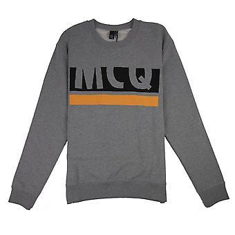 MCQ van Alexander McQueen Alexander McQueen MCQ half logo Sweatshirt grijs