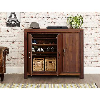 Mayan Walnut Extra Large Shoe Cupboard Brown - Baumhaus