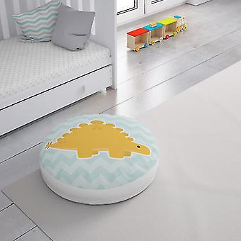 Meesoz Floor Cushion - Yellow Dinosaur