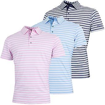 Bobby Jones Mens XH20 Del Mar Stripe Stretch Golf Polo Shirt