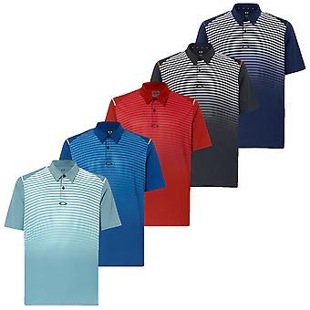 Oakley Mens korte mouw gestreepte Ellipse Golf Polo Shirt
