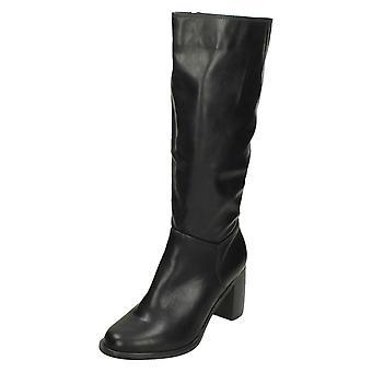 Damen Spot auf Knie High Heeled Stiefel