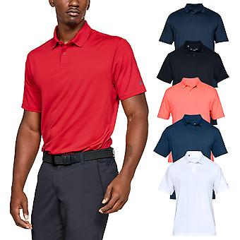 Under Armour Mens 2020 Solid Performance 2.0 Golf Stretch Wicking Polo Shirt